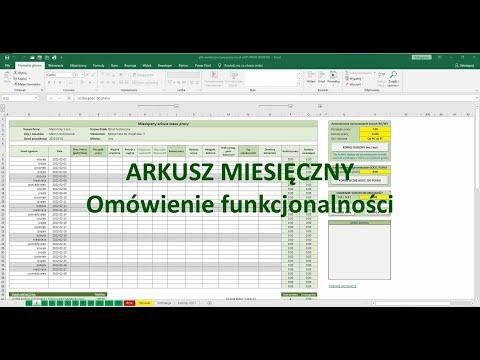 Arkusz miesięczny - Omówienie funkcjonalności