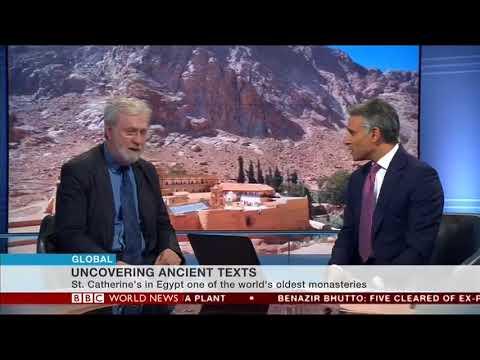Saint Catherine Monastery Library - Prof. Pickwoad on BBC World News 2017 08 31 16 17 02