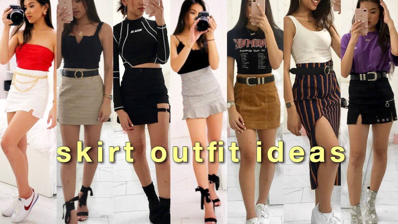 STYLING SKIRTS // making outfits with only skirts