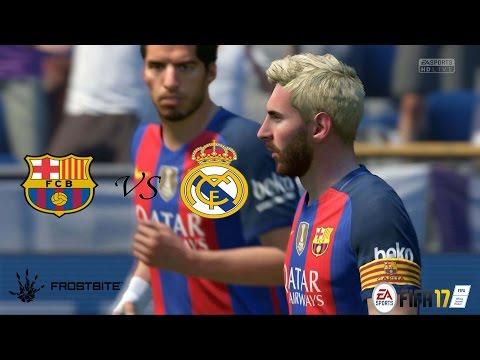 FIFA17 - El Clásico Barcelona vs Real Madrid - La Liga ( Modo Lendário ) Playstation 4