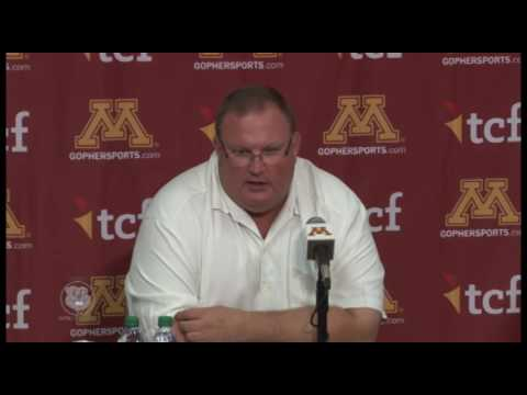 Press Conference: Tracy Claeys Previews Big Ten Opener