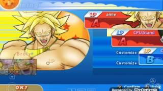 Một số nhân vật trong dragonball z tenkaichi tag team mod