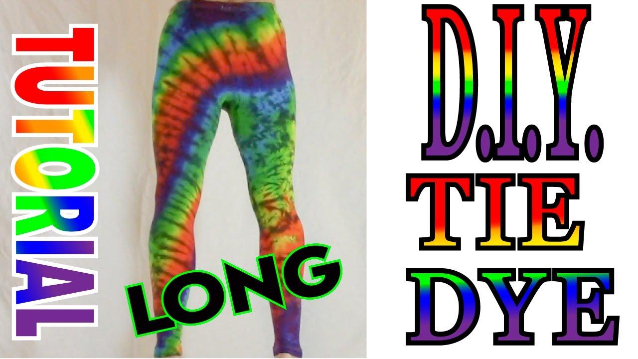 c070e7c79b Tie Dye Rainbow Yoga Pants [Full Tutorial] - YouTube