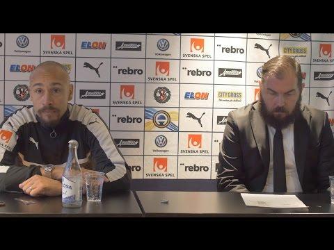 Presskonferens med Alexander Axén och Henrik Larsson