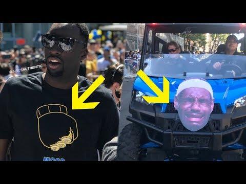 Warriors SAVAGELY Troll Lebron James at Championship Parade