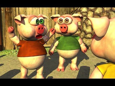 Three Little Piggies (HD) - The Farm Songs for Kids, Children's Music