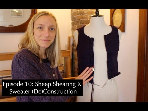 KnittingtheStash Episode 10: Sheep Shearing and Sweaters!