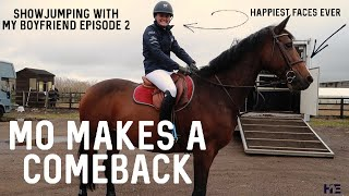 MO MAKES A COME BACK AND OBI IS A HERO | SHOWJUMPING WITH MY BOYFRIEND EPISODE 2 😆 | HACKETT EQUINE