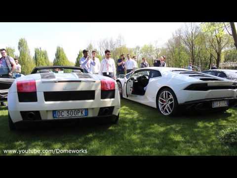 Lamborghini Sound Battle V10 Gallardo Vs Huracan Youtube