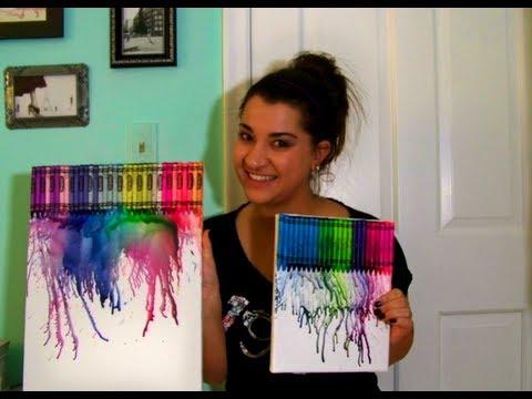✐DIY Drip Crayon Melted Wall Art✐ - YouTube