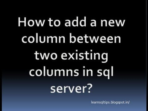 How to add a new column between two existing columns in sql server?