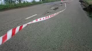 Наводнение Чита .  Застепь - дорога и огород .