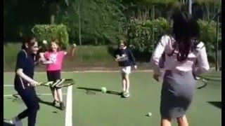 Judith Ralston teaches us a trick or two at Western Tennis