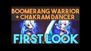 Boomerang Warrior + Chakram Dancer FIRST LOOK! in SUMMONERS WAR