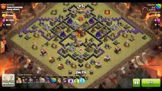Clash of Clans TH10 vs TH10 Golem, Wizard & Witch (GoWiWi) Clan War 3 Star Attack