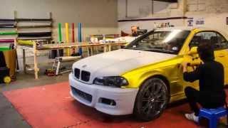 BMW E46 Vvivid Satin Gold Chrome Wrap
