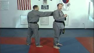 Hapkido Rear Collar Grab Techniques 1 thru 4, Ji Han Jae