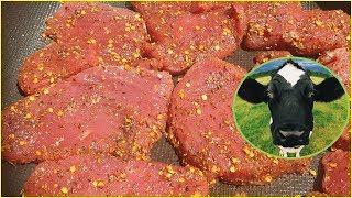 【美食】牛肉干还在买着吃?太阳晒干的牛肉,非常香,味道浓郁