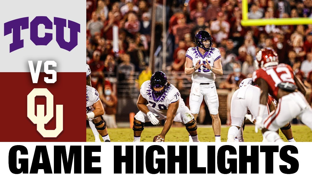 TCU vs #4 Oklahoma   Week 7   2021 College Football