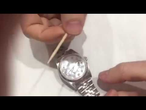 How to Adjust the length of the band on Rolex date just using toothpick and finger nail