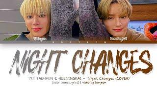 TXT (TAEHYUN & HUENINGKAI) − 'Night Changes'   Legendado/Tradução PT-BR (Color Coded Lyrics)