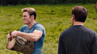 Тони Старк и Стив Роджерс колют дрова. У Нас Трактор Барахлит.  Мстители:  Эра Альтрона