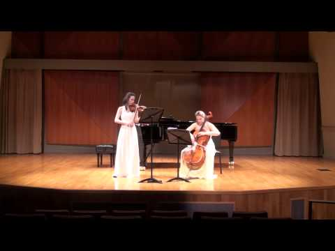 Ravel Sonata for Violin and Cello, 3rd movement - Lent