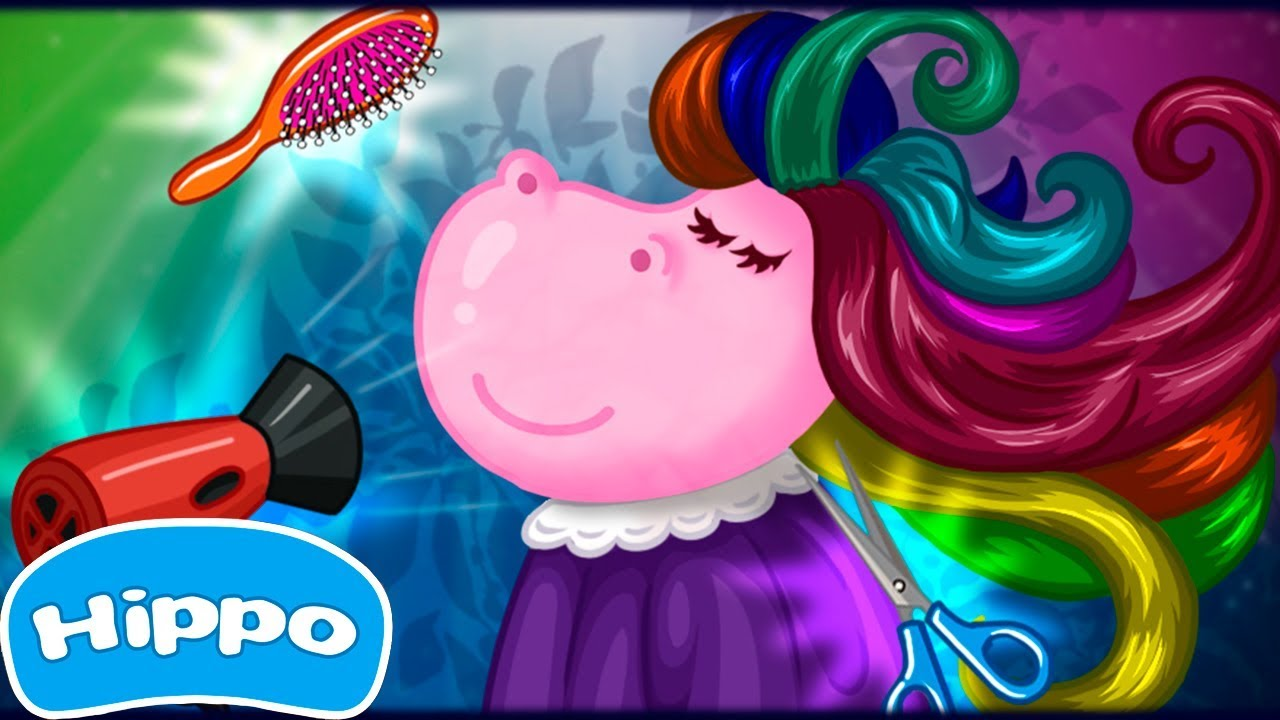Hippo 🌼 Peluquería 🌼 Juegos de moda para niñas 🌼 Juego de dibujos ...