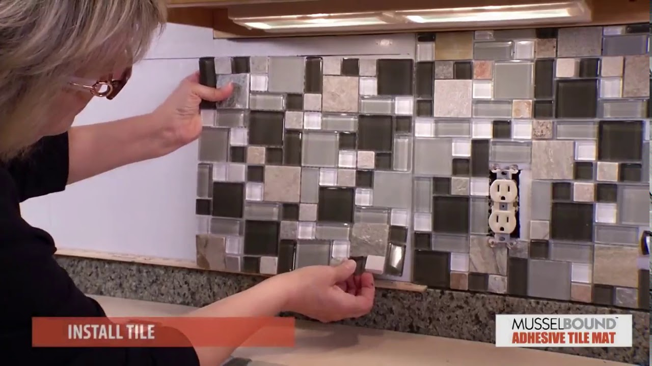 Musselbound Adhesive Tile Mat A Beautiful Backsplash Made Easy