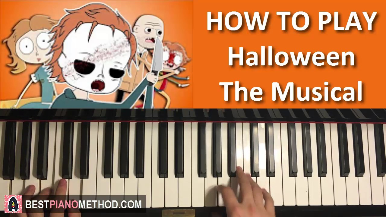 how to play - halloween the musical - cartoon song - lhugueny (piano