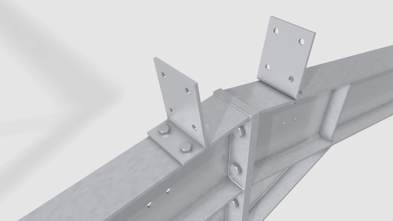 Steel Frame Construction 3d Animation Youtube