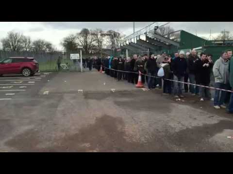 YTFC fans queuing for Manchester united tickets