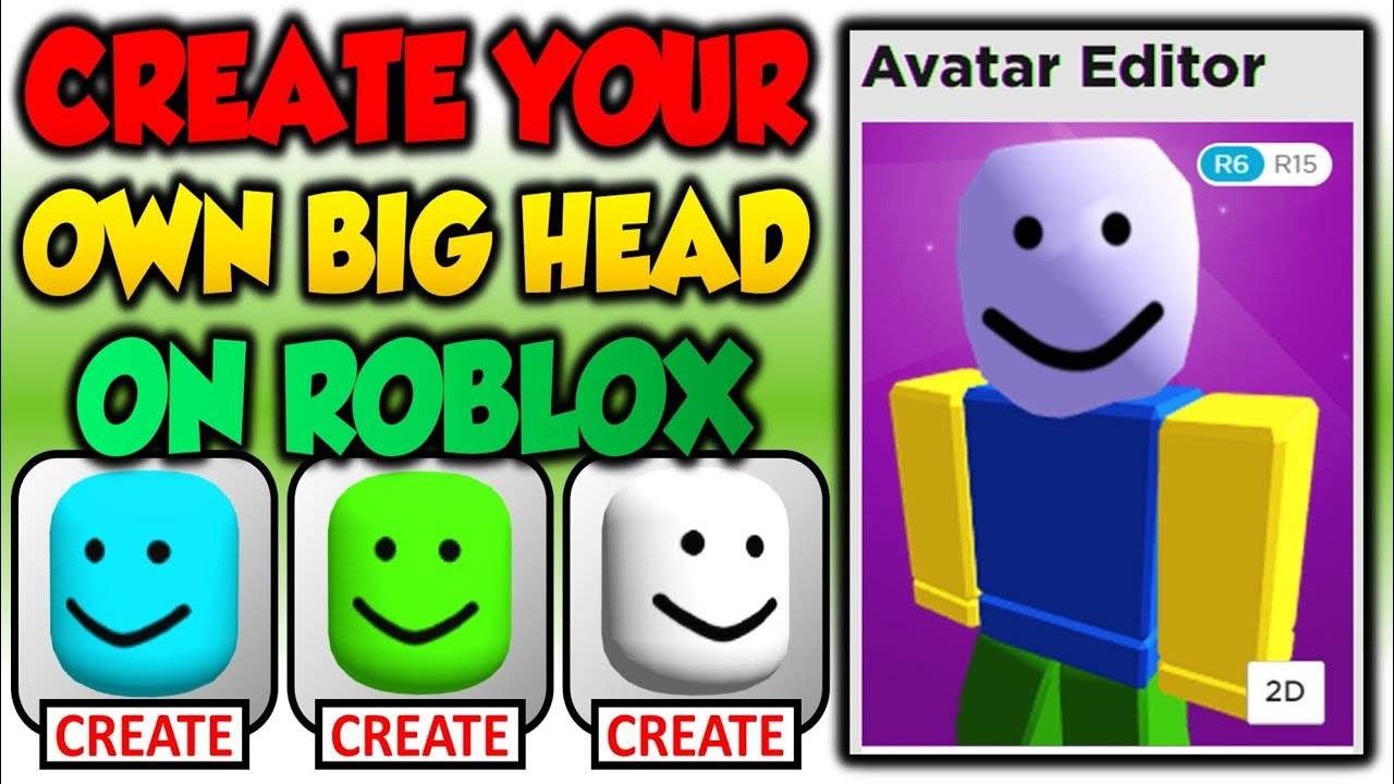 Create A Face Roblox I Created My Own Bighead On Roblox For Free Youtube