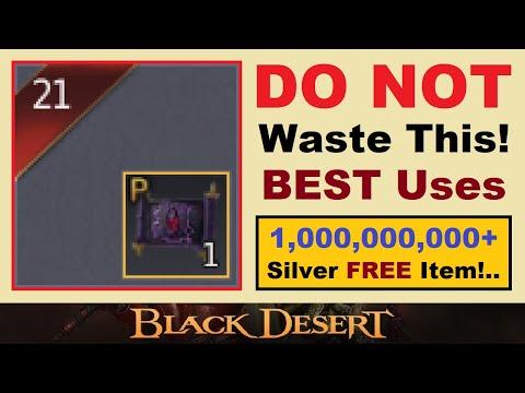 *DO NOT* Waste This!.. 1bil+ ~FREE~ Item Soon!.. (Best & *WORST* Uses) Black Desert Online Video