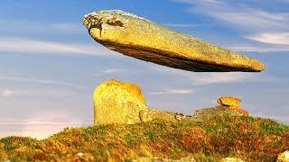 هذه الصخرة تتحدى الجاذبية وتطير في الهواء منذ مئات السنين.. ولا يعرف أحد السبب !!