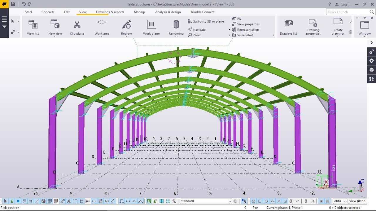 How To Create A Curved Rafter Portal Frame Tekla