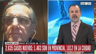 Nuevo récord de contagios y muertes en Argentina