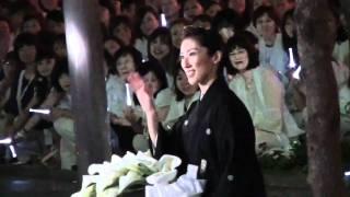 2010年9月12日 東京宝塚劇場雪組千秋楽、水夏希さんの出待ちです。