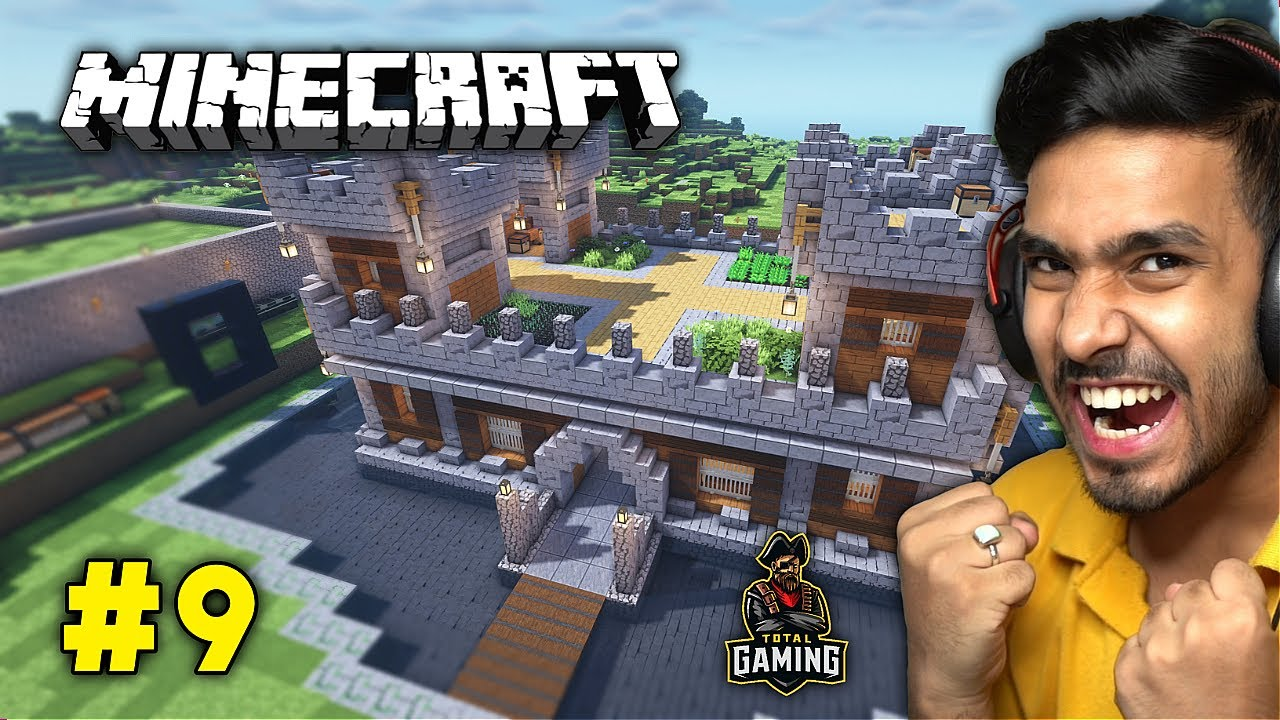AJJUBHAI AND UJJWAL (TECHNO GAMERZ) NEW CASTLE IN HEROBRINE SMP | MINECRAFT GAMEPLAY #9