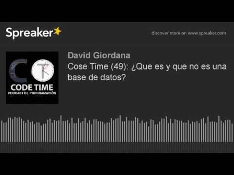 Code Time (49): ¿Que es y que no es una base de datos?