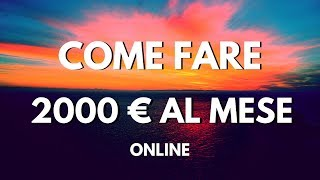 Come Guadagnare Online seriamente con l'Affiliate Marketing 2018 (Soldi dimostrati)