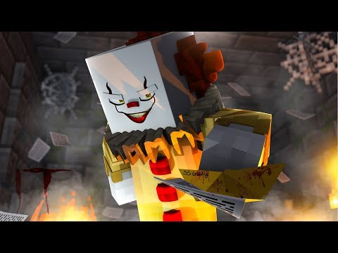 """""""IT"""" THE MINECRAFT MOVIE - Haunted by Pennywise the Clown! (Part 1)"""