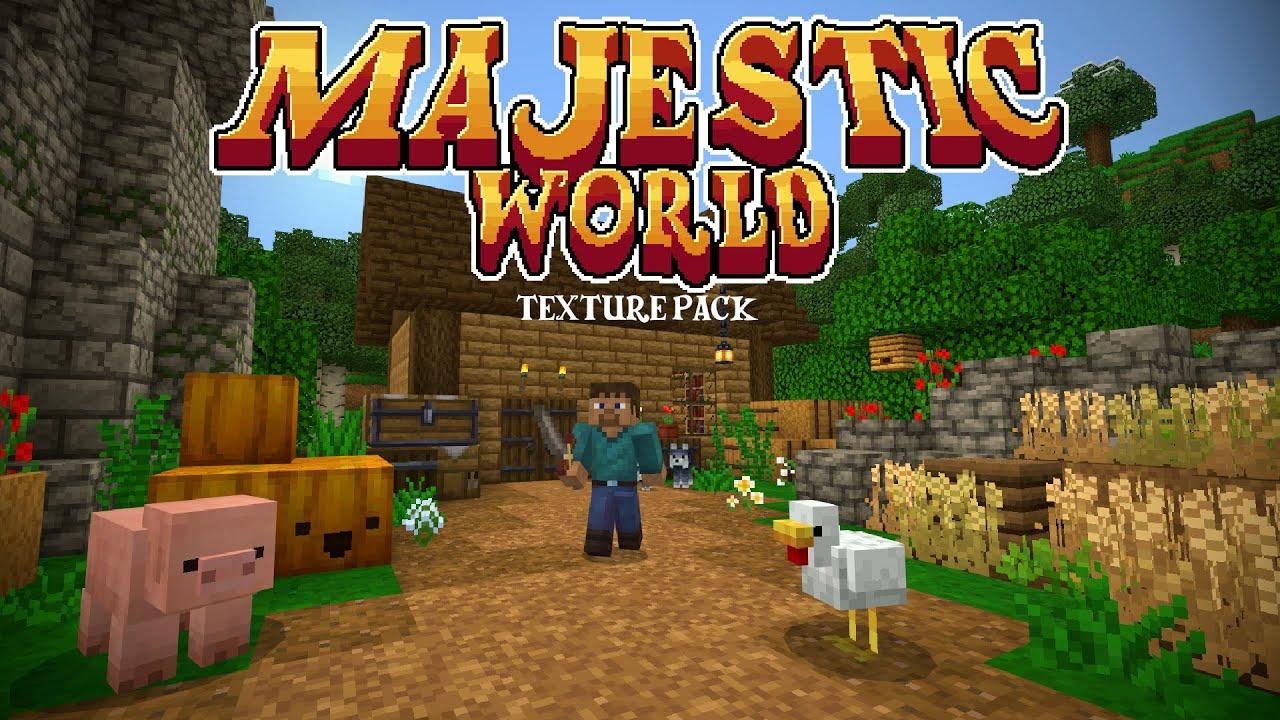 Majestic World Minecraft Marketplace Texture Pack Youtube