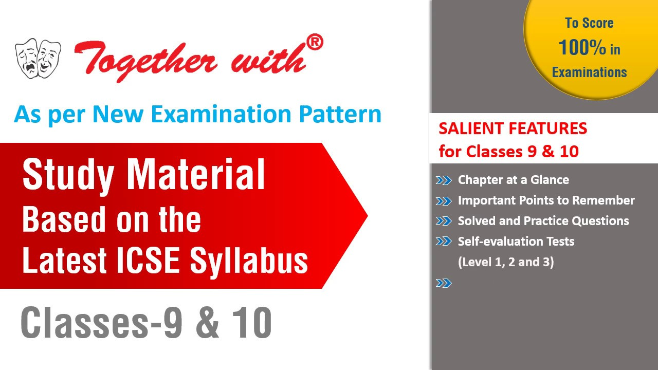 New Releases for ICSE & ISC Classes 9,10 &12th(Study Material & Sample  Papers)