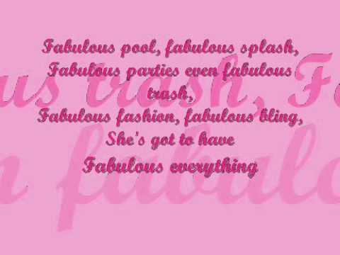 Fabulous Lyrics By Ashley Tisdale