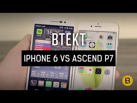 Apple iPhone 6 vs Huawei Ascend P7