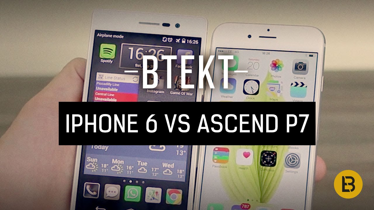 apple iphone 6 vs huawei ascend p7 youtube