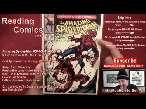 Reading Comics: First Appearance Carnage/Cletus Kasady, Venom, Amazing Spider-Man #344, #361 - ASMR