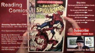 Reading Comics: First Appearance Carnage/Cletus Kasady, Venom, Amazing Spider-Man #344, #361 - ASMR