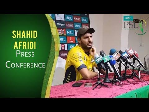 PSL 2017 Match 13: Shahid Afridi Press Conference